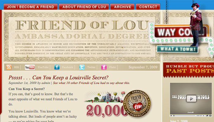 Friend of Lou website