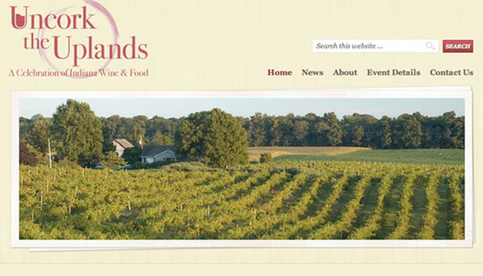 Uncork the Uplands website